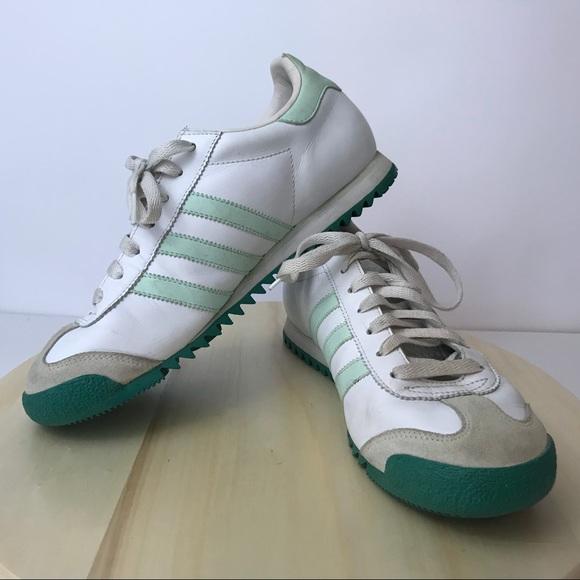 20ca76b1d0 Adidas ROM Sneakers White Mint Green Men's US 8.5